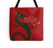 Dragon, Flower Breathing Tote Bag