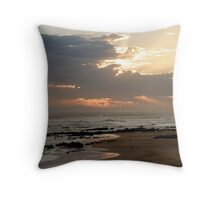 Ray of light, Sunset at Beachview, Port Elizabeth, Eastern Cape, South Africa Throw Pillow