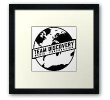 Team Discovery Logo - Black Framed Print