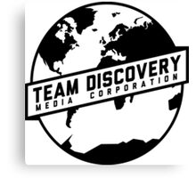Team Discovery Logo - Black Canvas Print