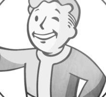 WAR NEVER CHANGES. Vaultboy Fallout Design. Sticker