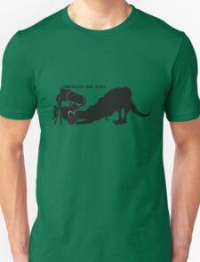 Dinosaurs are [JERKS] - Slide T-Shirt