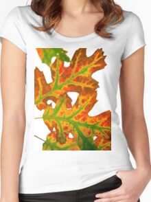 Autumn colour Women's Fitted Scoop T-Shirt