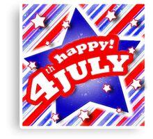 4th of July Celebration desig Canvas Print