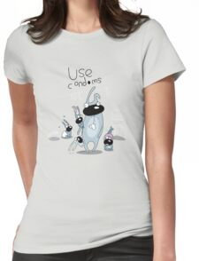 Use condoms Womens Fitted T-Shirt