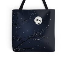 Night Birds and Full Moon Tote Bag