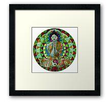 Serenity Buddha free-hand mandala Framed Print