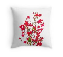 Red petals flowers Throw Pillow