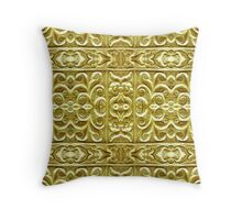 Gold Plated Ornament Throw Pillow