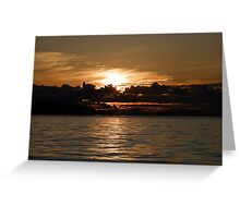 Pender Island Sunset Greeting Card