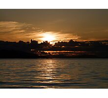 Pender Island Sunset Photographic Print