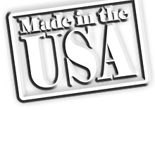 Made in the USA, Manufactured in America, American, by TOM HILL - Designer