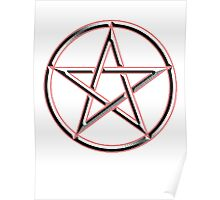 WICCA, Witch, Wizard, Pentacle, modern Pagan, Witchcraft, religion. Poster
