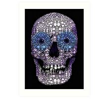 Skull Art - Day Of The Dead 2 Stone Rock'd Art Print