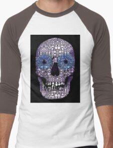 Skull Art - Day Of The Dead 2 Stone Rock'd Men's Baseball ¾ T-Shirt
