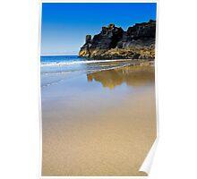 Deserted Housel Bay Beach, The Lizard Cornwall Poster