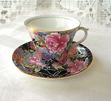 Antique Still Life Teacup by digitalmidge