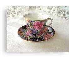 Antique Still Life Teacup Canvas Print