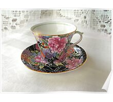 Antique Still Life Teacup Poster