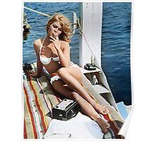 Brigitte Bardot Smoking in a Bikini Poster
