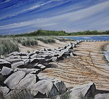 Studland Bay by Annie Lovelass