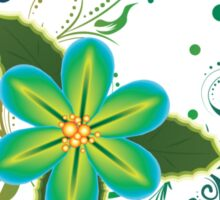 Tropical Flower and Floral Ornament3 Sticker