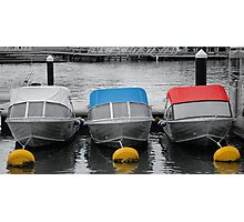 Boats for hire - Mandurah Photographic Print