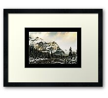 Mountain Scene (Bordered) Framed Print