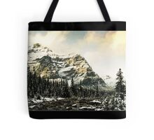 Mountain Scene (Bordered) Tote Bag