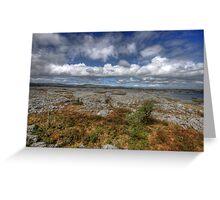 Burren Landscape View Greeting Card
