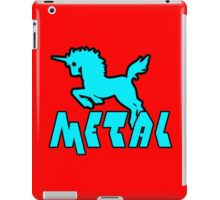Unicorns are metal geek funny nerd iPad Case/Skin