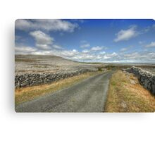 The Burren Road Canvas Print