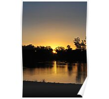 Anzac Day Sunset Over The Murray Poster