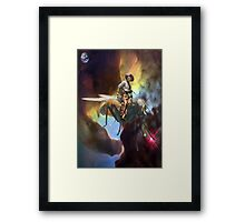 SPACE COWBOY Framed Print