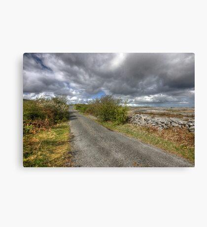 Rural Burren Road Canvas Print