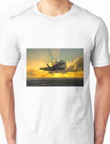 F-18 Landing In The Sunbeams - Digital Painting Unisex T-Shirt