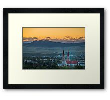 Cathedral of St. Helena Sunset Framed Print