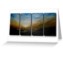 Sunset over Mountain Range Greeting Card