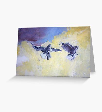 Sky Birds Greeting Card