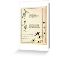 The Glad Year Round for Boys and Girls by Almira George Plympton and Kate Greenaway 1882 0026 Bumble Bee and Emily Lee Greeting Card