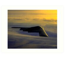 B-2 Spirit Bomber USAF digital painting Art Print