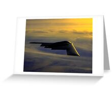 B-2 Spirit Bomber USAF digital painting Greeting Card