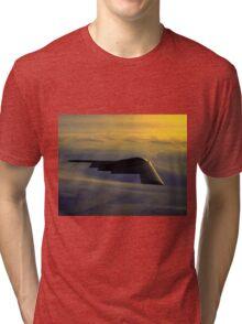 B-2 Spirit Bomber USAF digital painting Tri-blend T-Shirt