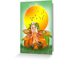 Moonies Cutie Pie Citrus Fairy - Orange Blossom Greeting Card