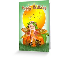 Citrus Fairy - Happy Birthday Greeting Card