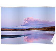 Eruption on Eyjafjalla Glacier #5 Poster