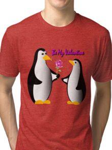 penguins in love proposing Tri-blend T-Shirt