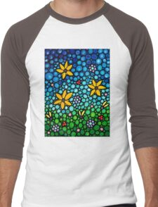 Spring Maidens - Colorful Flower Art By Sharon Cummings Men's Baseball ¾ T-Shirt