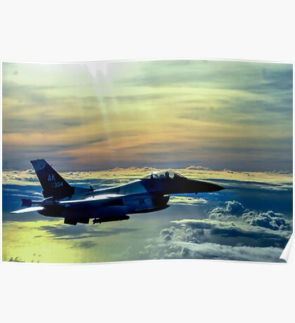 F-16 Fighting Falcon Digital Painting Poster