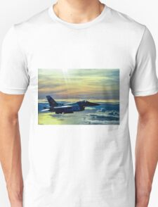 F-16 Fighting Falcon Digital Painting Unisex T-Shirt
